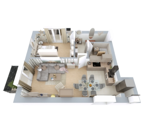 Dome Residence-Apartament-2 camere